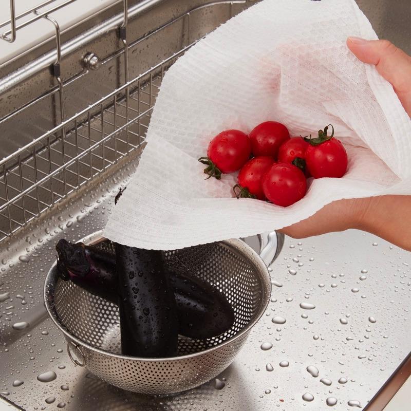 洗った野菜の水切り
