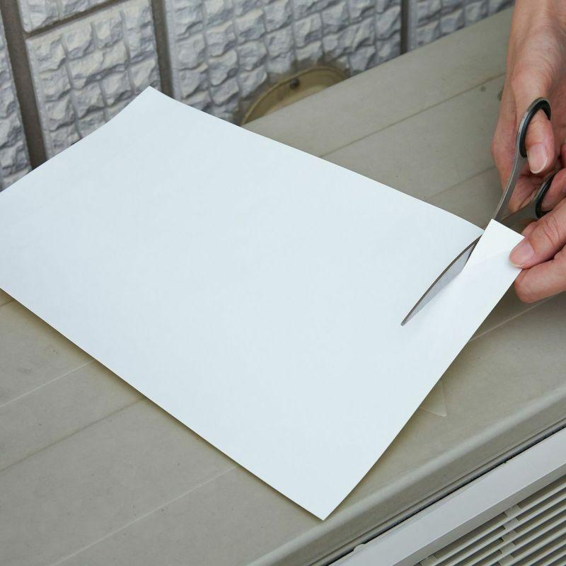 【上手な貼り方】1.貼りつける面のサイズを測り、カットします。