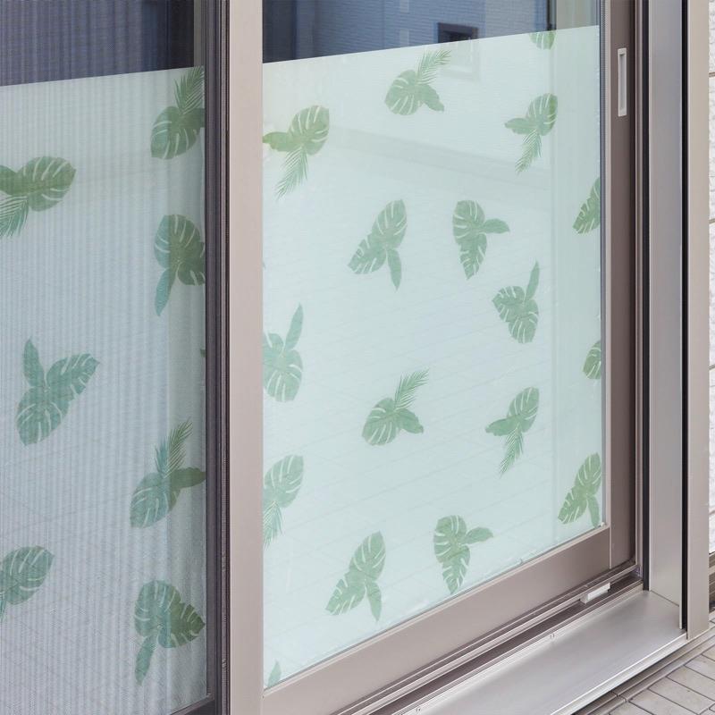窓の外からみてもかわいい裏面デザイン入り。