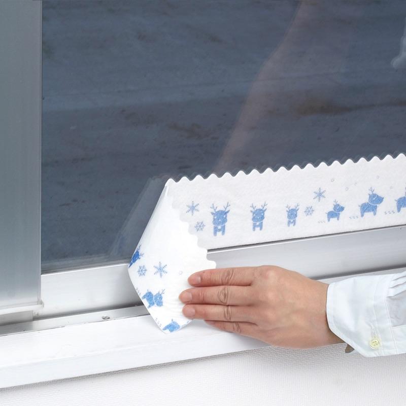 すりガラスにも使用できる特殊な粘着剤を開発しました。