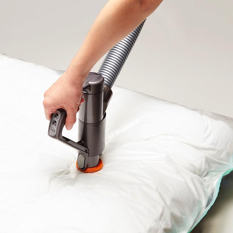[バルブ]掃除機を止めたら自動で閉じるオートロックバルブで空気の逆戻りなし!