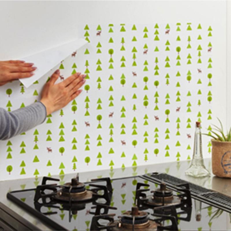 キッチンの壁に貼ってコンロ周りの油はねを防ぎます。