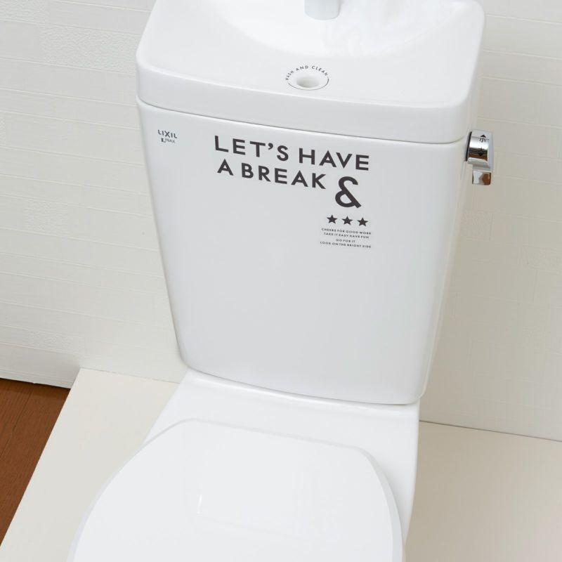 消臭性と耐水性のあるシールで水回りはいつも清潔。