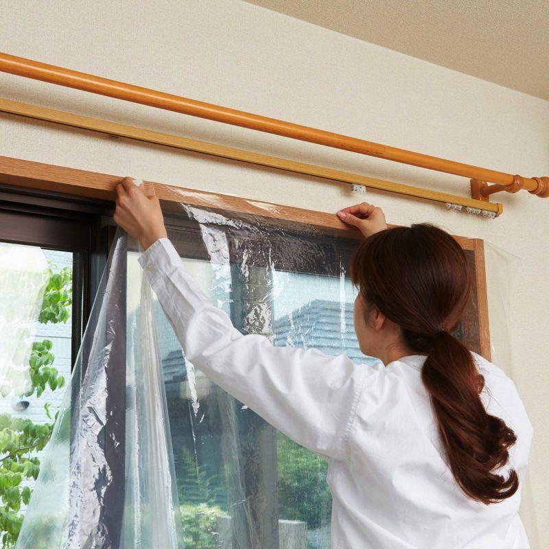 窓全体を覆うことで空気の侵入、暖気の流出を防止