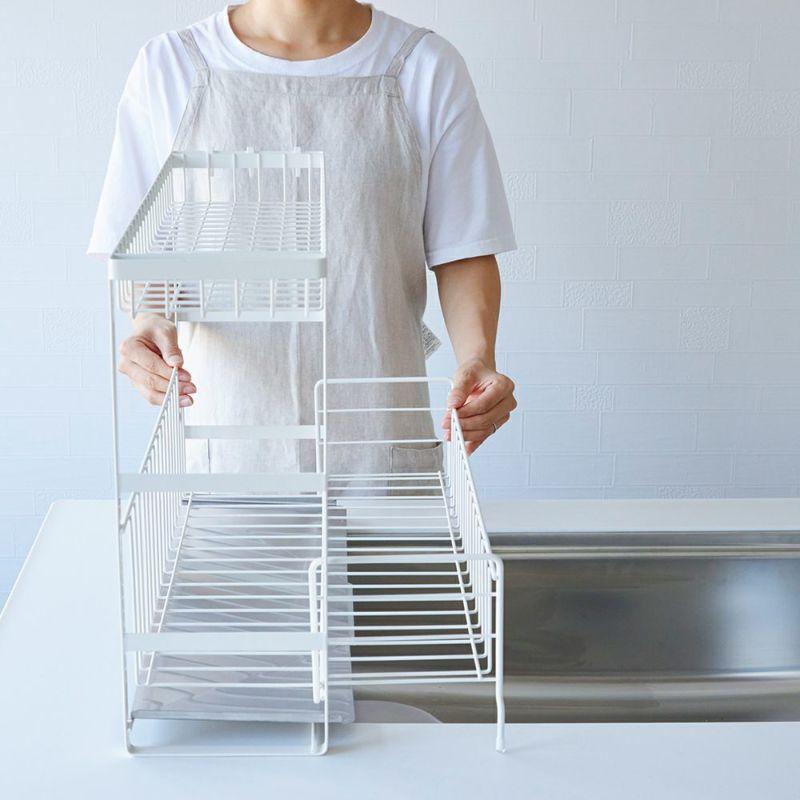 伸縮可能だから、洗い物の量に合わせて広げたりコンパクトにしたりと使い分け。