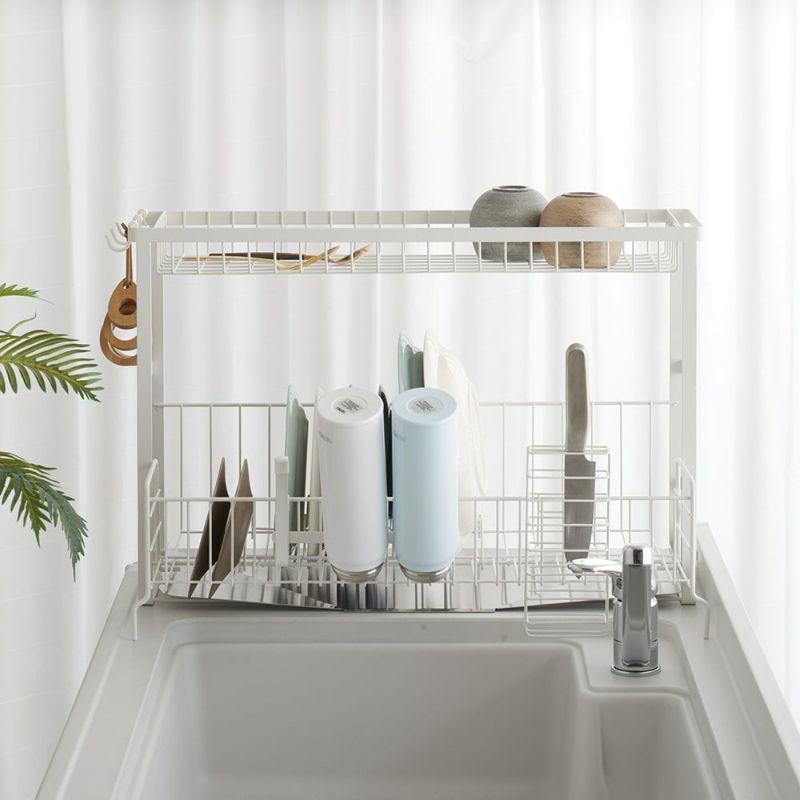 シンクのサイドに置けるからキッチンスペースを有効活用できます。