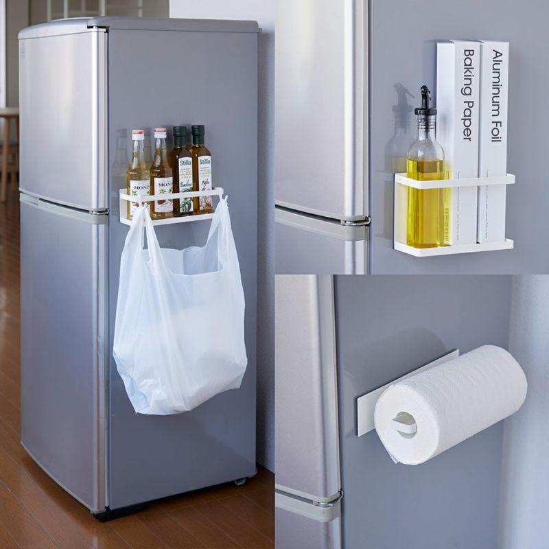3種類から選べる冷蔵庫などに取り付けて使えるマグネット収納シリーズ。
