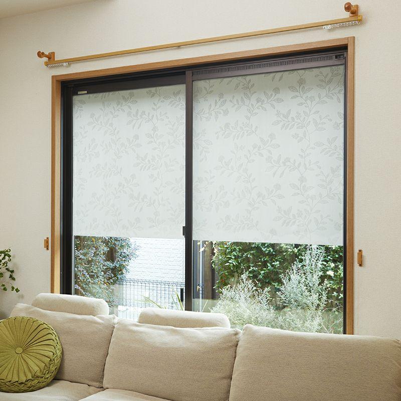 全面吸着・洗える窓用遮熱シール レース 90×90cm